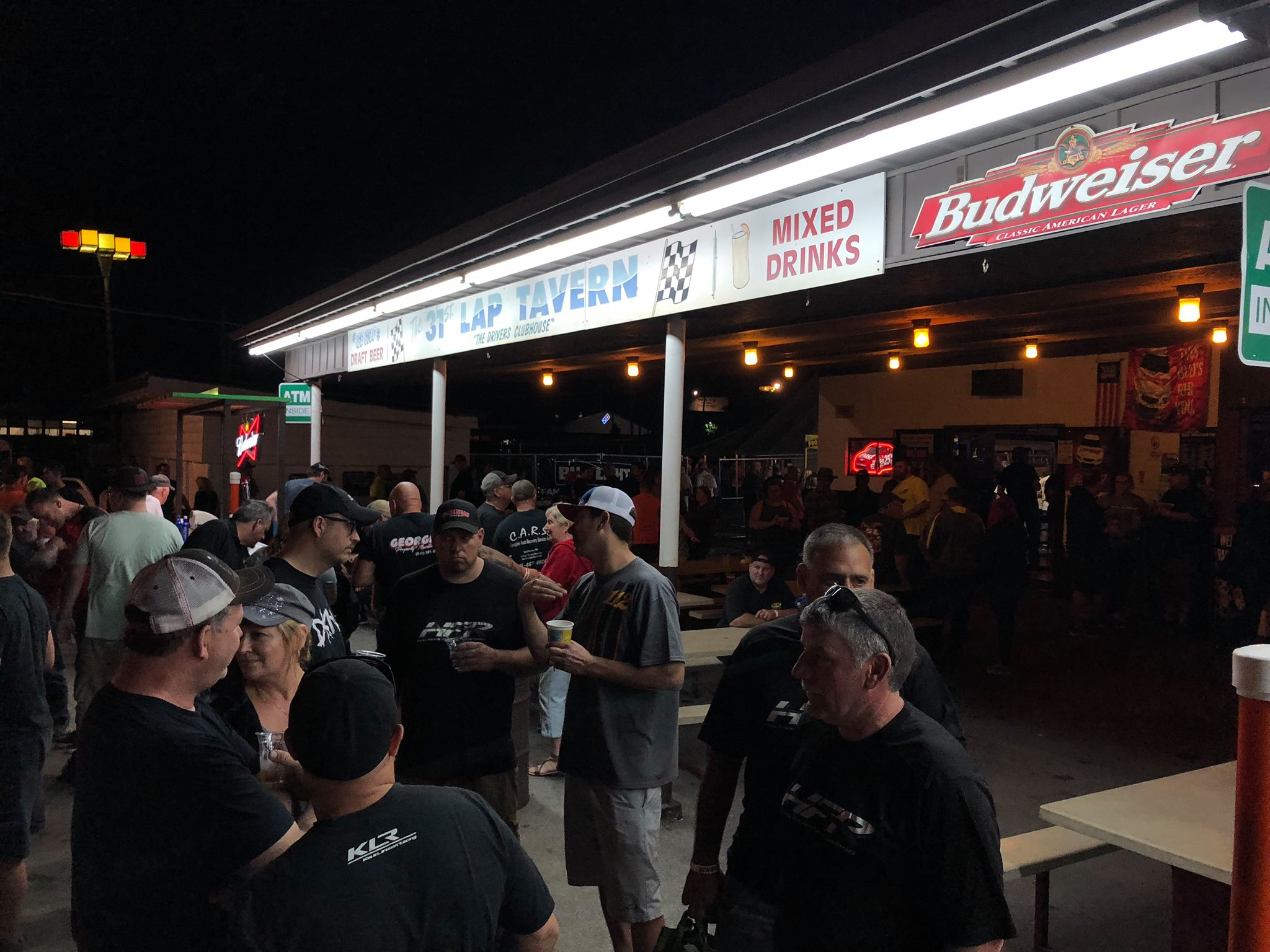 Fans and drivers alike congregate at the 31st Lap Tavern, the Speedway's historic, on-site bar!